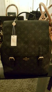 black monogrammed Louis Vuitton leather handbag Falls Church, 22041