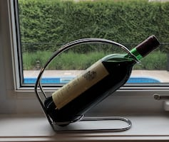 Wine bottle holder ( wine not included )