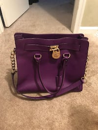 purple leather 2-way handbag Manassas