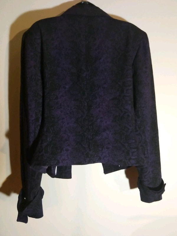 Women's size 16 Blazer purple black Anne Klein 4
