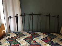 Queen size iron bed