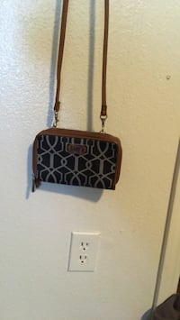 black and brown monogrammed Michael Kors leather crossbody bag Albuquerque, 87109