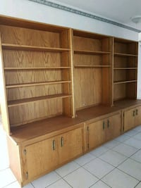 brown wooden cabinet with shelf Edmonton