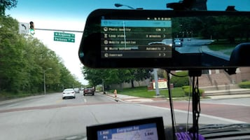 Android rearview and front camera