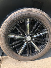 black 5-spoke car wheel with tire Winnipeg, R2C 3T2