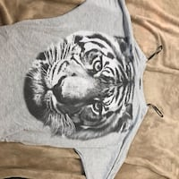 Grey Lion Shirt- Forever 21- Long sleeve- Small Flower Mound, 75028