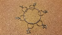 silver-colored bangles with charms Poynette, 53955