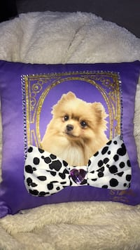 Purple Dog Pillow