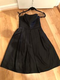 Ann Taylor Black silk dress -size 4