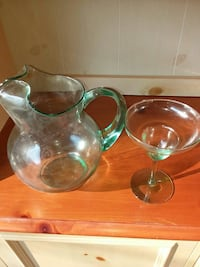 clear cut glass pitcher and wine glass Manassas, 20110