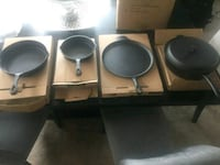 New! Never used! Cast Iron Cookware Set 5 Pc Columbia