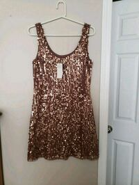 Rose gold mexx ladies medium sleeveless dress Edmonton