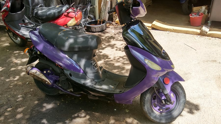 50cc Motor Scooter Purple Fast S'ooter. Just Refurbished!! Runs Great! 28f484e0-6ce1-474e-bc5e-b99a7342d0c6