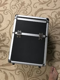 Black and gray train case