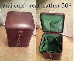 Leather bag/ sac en cuir