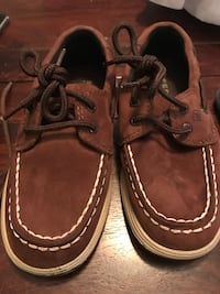 pair of brown leather boat shoes Hebron, 06248