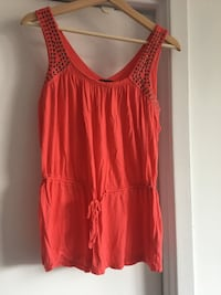 Women orange blouse size medium