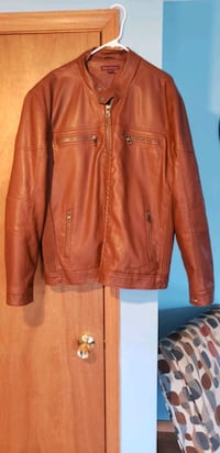 Men's Faux Leather Jacket size 2XL Steger, 60475