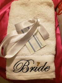 BRAND NEW***Bride and groom hand towels Toronto