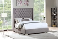 New grey queen size bed frame  Houston, 77041