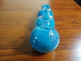 *NEW* Light Blue 3 Three Bowl Glass Pipe