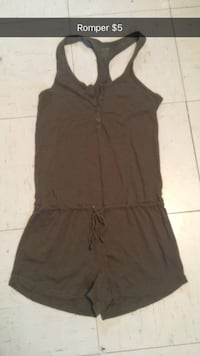 women's brown sleeveless dress
