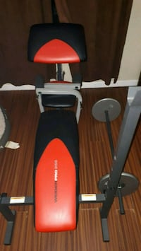 black and red Weider exercise equipment Waterloo, N2L 5S7