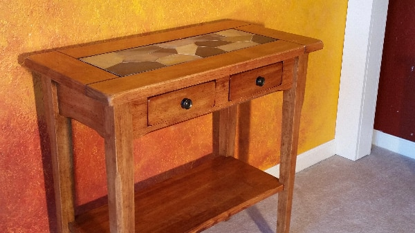 Stone Tile Top End Table
