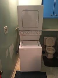 white stockable washer and dryer