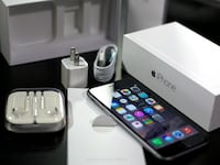 space gray iPhone 6 with charger, EarPods, and box Hartford, 06106