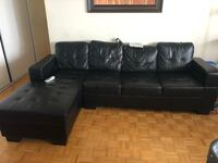 black leather tufted sectional sofa Mississauga, L4Y 2N9