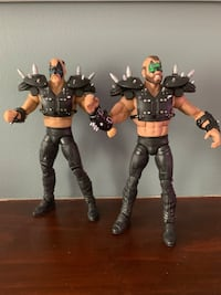 Mattel (Matty Collector) WWE WWF Legends Series 1 Road Warriors Hawk and Animal Loose Action Figures