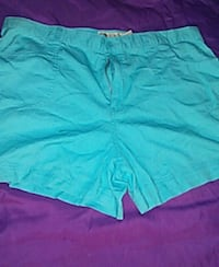 women's blue shorts