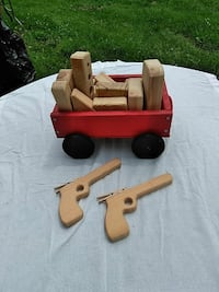Handmade wooden wagon and blocks and toys Middletown, 21769