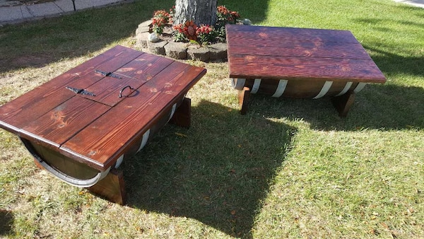 Used Homemade Wine Barrel Coffee Table For Sale In Staten Island Letgo