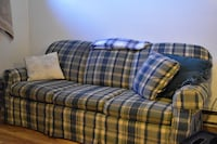 plaid pull-out sofa