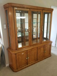 brown wooden framed glass display cabinet Toronto, M2N 6H8