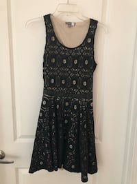Black lacy back cut out dress, size S