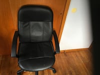 black leather office rolling armchair Islip, 11722