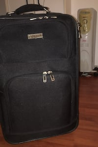 Suitcase luggage six storage spaces. Name brand
