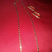18 karat gold plated necklace  ear rings Holiday, 34690
