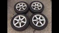 "16"" 4x100 4x114.3 all seasons rims and tires  Mississauga, L5A 3L7"