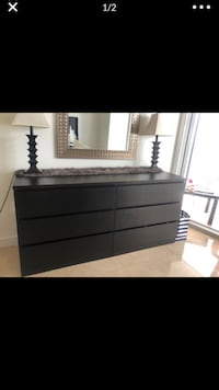 6 drawer dresser black Miami, 33131