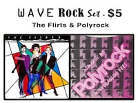 "WAVE ROCK Set - Alternative 12"" Combo - The Flirts & Polyrock - $5 Bethesda, MD, USA"