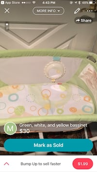 Baby's green, white, and yellow bassinet Centreville, 20120