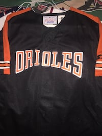 orange and black Orioles baseball jersey Alexandria, 22309