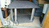 gray metal framed glass top TV stand Dayton, 37321