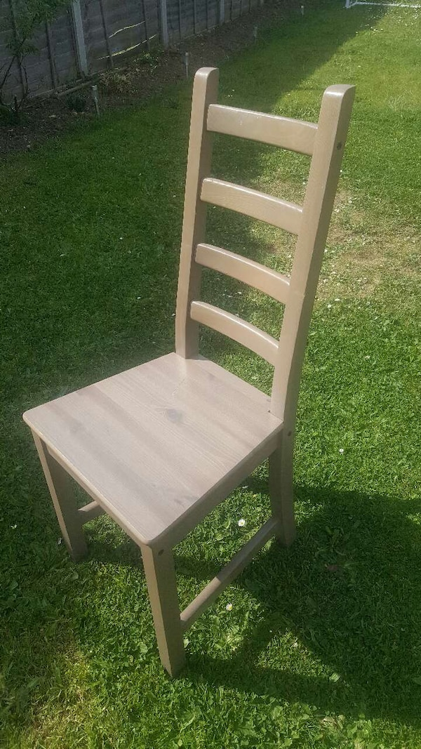 Used Brown Wooden Ladder Back Chair For Sale In Slough Letgo
