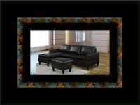 Black sectional with ottoman 46 km