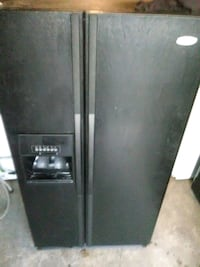 black side-by-side refrigerator with dispenser Virginia Beach, 23464